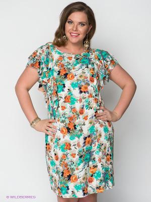 Платье MAFUERTA. Цвет: зеленый, бирюзовый, оранжевый, белый
