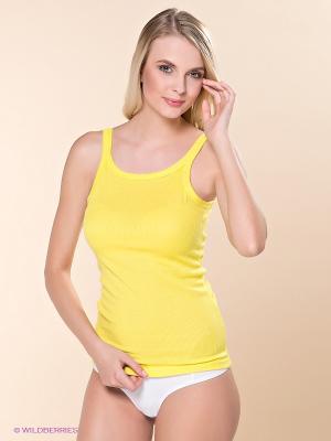 Майка Alla Buone. Цвет: желтый