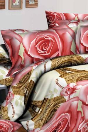 Постельное белье 1,5 сп. Сатин Французский стиль. Цвет: мультиколор