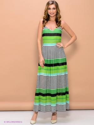 Платье ELENA FEDEL. Цвет: зеленый, белый