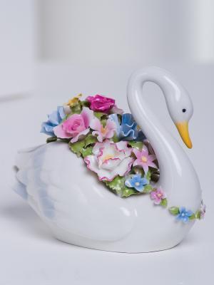 Музыкальная фигурка Лебедь Pavone. Цвет: белый (осн.)