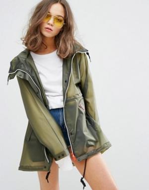 Hunter Womens Original Festival Raincoat. Цвет: зеленый