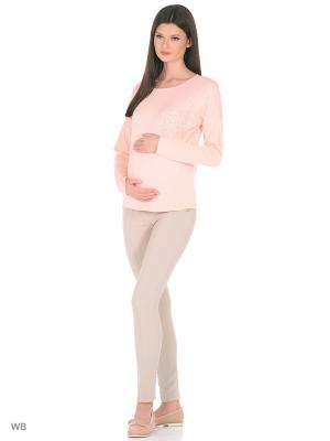 Блузка MammySize. Цвет: персиковый
