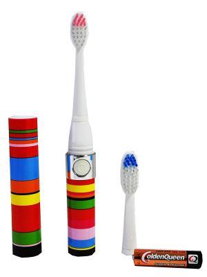 Зубная щетка EVA (радуга) Longa Vita. Цвет: красный