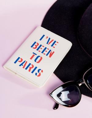 BAN DO Обложка для паспорта с надписью Ive Been To Paris Ban.Do. Цвет: мульти