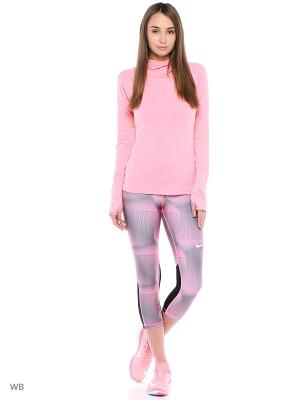 Капри W NP CL CPRI PYRAMID Nike. Цвет: розовый, черный