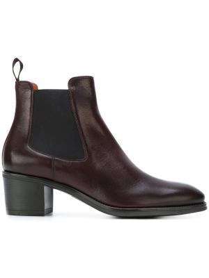 Ботинки Челси Santoni. Цвет: красный