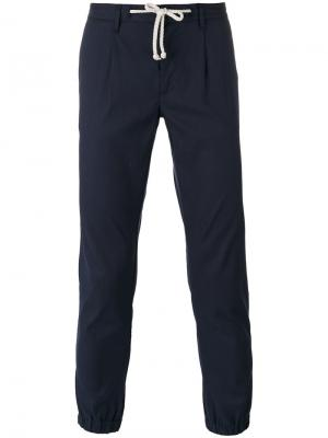 Tapered trousers Paolo Pecora. Цвет: синий