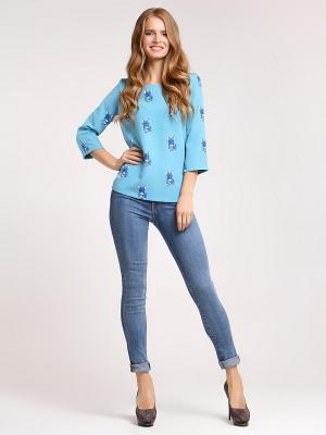 Блуза Vittoria Vicci. Цвет: серо-голубой