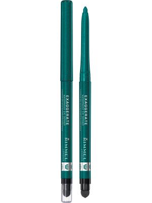 Карандаш Для Глаз Exaggerate Waterproof Eye Definer 250 тон Rimmel. Цвет: зеленый