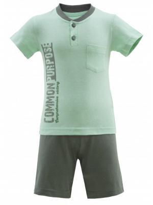 Комплект одежды РОССИЙСКИЙ ТРИКОТАЖ. Цвет: бирюзовый, белый, серый