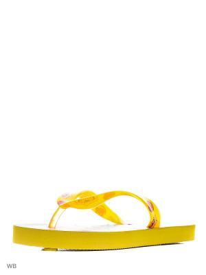 Шлепанцы Mon Ami. Цвет: желтый, черный, красный