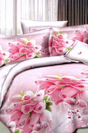 Постельное белье 1,5 сп. 50x70 Patrizia. Цвет: розовый