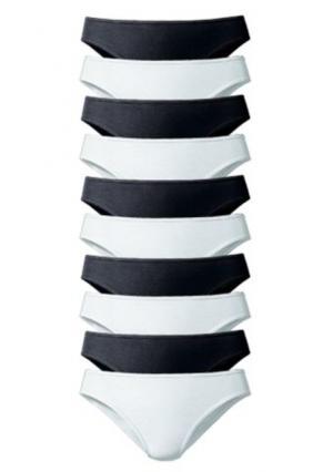 Трусики-бикини, 10 штук GO IN. Цвет: 10х белый, 10х цветной набор, 10х черный, 5x серый меланжевый+5х белый, 5х черный+5х белый