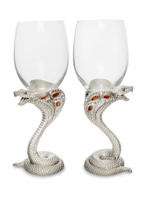 Набор бокалов для вина Змея сер. Win. Цвет: серебристый