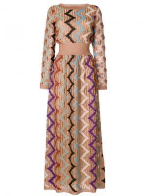 Длинное трикотажное платье Missoni. Цвет: многоцветный