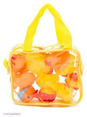 Уточки (8шт.) в сумочке Globo. Цвет: желтый, оранжевый