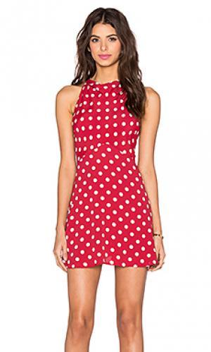 Платье quincy Privacy Please. Цвет: красный