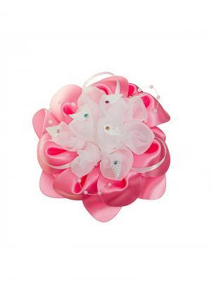 Бант Лотос 11см розовый Миниледи. Цвет: розовый