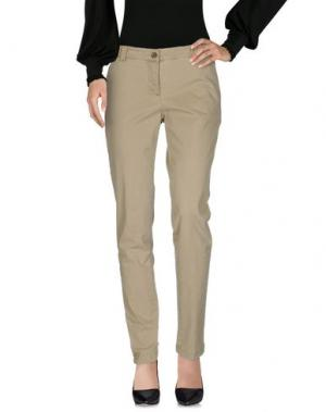 Повседневные брюки YUKO. Цвет: зеленый-милитари