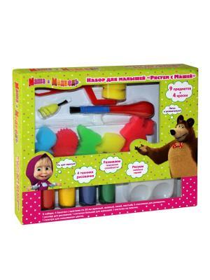 Набор для малышей Рисуем с Машей Маша и медведь. Цвет: зеленый