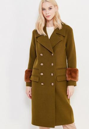 Пальто Grand Style. Цвет: хаки