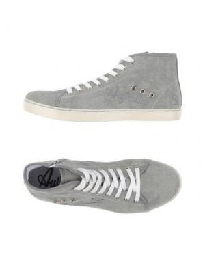 Высокие кеды и кроссовки AUSTRALIAN. Цвет: серый