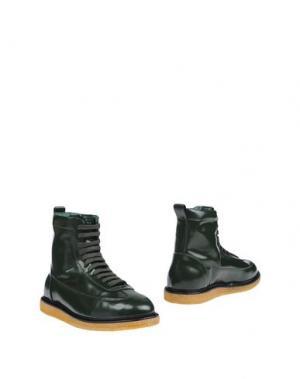 Полусапоги и высокие ботинки UTC00. Цвет: зеленый