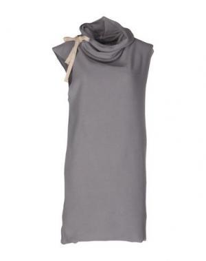 Короткое платье X CONCEPT. Цвет: светло-серый