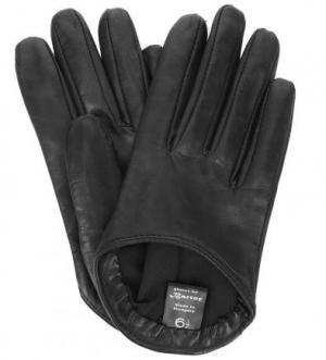 Кожаные короткие перчатки Bartoc. Цвет: черный