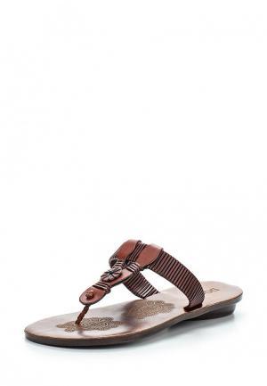 Шлепанцы Doca. Цвет: коричневый
