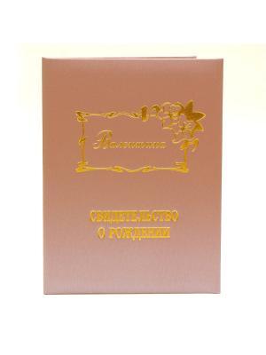Именная обложка для свидетельства о рождении Валентина Dream Service. Цвет: розовый