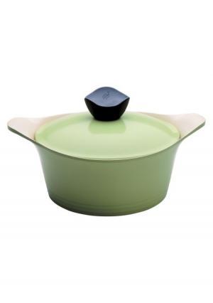 Кастрюля с крышкой Evergreen Frybest. Цвет: зеленый (оливковый)