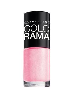 Лак для ногтей Colorama, оттенок 69, Розовое сияние, 7 мл Maybelline New York. Цвет: розовый