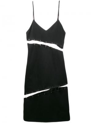 Cutout safety pin slip dress Beau Souci. Цвет: чёрный