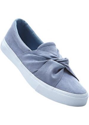 Слиперы (сизо-голубой) bonprix. Цвет: сизо-голубой