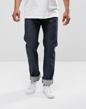 Levis Прямые джинсы цвета индиго 501 Original. Цвет: темно-синий