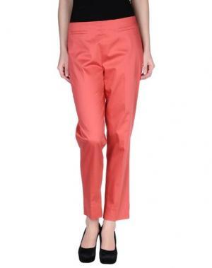 Повседневные брюки KILTIE. Цвет: коралловый