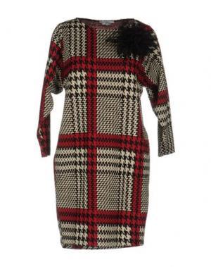 Короткое платье BIANCOGHIACCIO. Цвет: красный