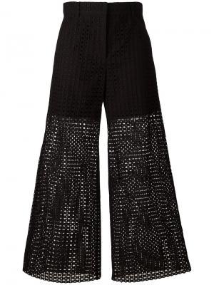 Прозрачные брюки Philosophy Di Lorenzo Serafini. Цвет: чёрный