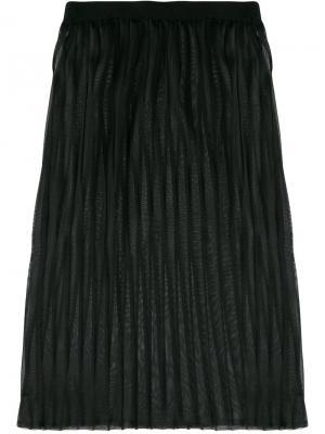 Многослойная плиссированная юбка Dondup. Цвет: чёрный