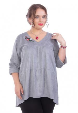 Блуза Wisell. Цвет: серый
