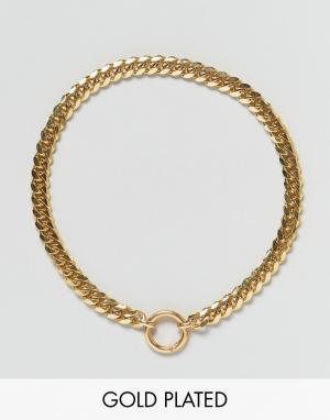 Gogo Philip Позолоченное ожерелье. Цвет: золотой