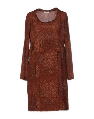 Короткое платье E-GÓ. Цвет: какао