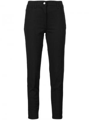Укороченные брюки кроя слим Jeremy Scott. Цвет: чёрный
