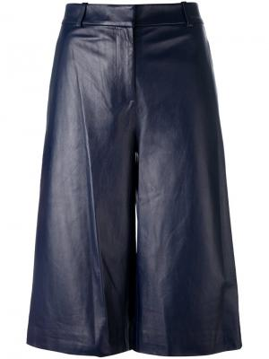Расклешенные шорты с высокой талией Dvf Diane Von Furstenberg. Цвет: синий