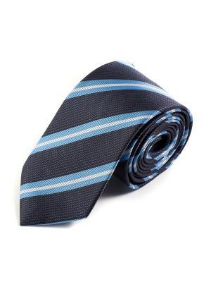 Галстук Pierre Lauren. Цвет: белый, темно-синий, голубой