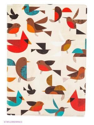 Обложка для автодокументов Птички-невелички Mitya Veselkov. Цвет: светло-бежевый, красный, черный, коричневый