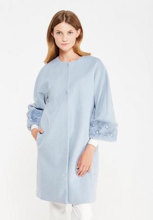 Пальто Rinascimento. Цвет: голубой