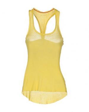 Майка 40WEFT. Цвет: желтый